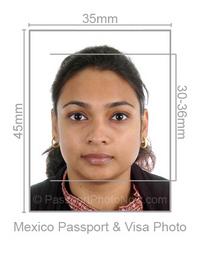 Mexico Passport Photo & Visa Pictures Template